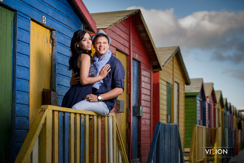 Muizenberg engagement shoot